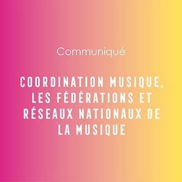 Coordination musique - réseaux nationaux
