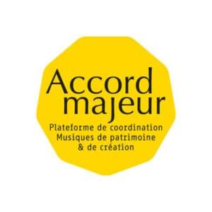Logo Accord Majeur, plateforme de coordination Musiques de patrimoine et de création
